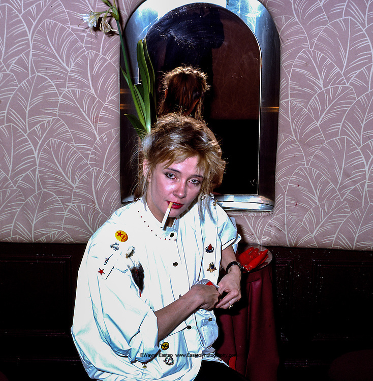 Vicky Wilson in ladies room at Studio 54, New York, NY