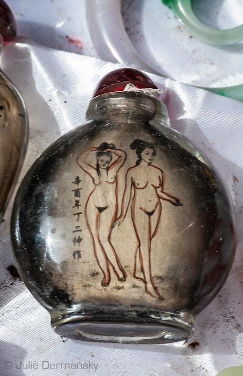 Perfume bottle at a Bejing fleamarket.