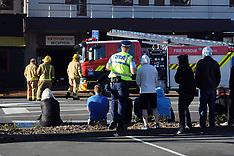 Wellington-Fire damages Exchange Hotel, Lower Hutt