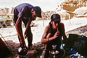 Kettle boiling and smoking a hookah, Middle East Tek, Wadi Rum, Jordan, 2008