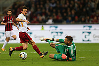 01.10.2017 - Milano  Serie A 7a   giornata  -  Milan-Roma  nella  foto: Alessandro Florenzi  e Gianluigi Donnarumma