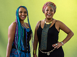 Pictured: Mara Menzies and Maïmouna Jallow <br /> <br /> Mara Menzies is one of Scotland's best loved performance storytellers with a powerful, dynamic and physical style that captures the imagination of any audience. She has performed and led workshops around the world including Kenya, Singapore, Jamaica, Sri Lanka, United Arab Emirates, the USA and across the UK.<br /> <br /> Maïmouna Jallow is a writer, journalist and producer. Most recently Maïmouna held the position of Event Director of the African Media Leaders Forum, Africa's largest gathering of media owners and leaders. She has also worked as a producer and reporter for the BBC World Service and later managed Regional Communications for Medécins Sans Frontières (MSF) in the Horn of Africa region. Maimouna has a passion for writing and is working on her first novel. She holds a master's degree in African studies from the School of Oriental and African Studies, University of London. She is fluent in English, French, Spanish and Portuguese.