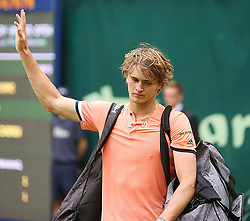 June 19, 2018 - Halle, Westphalia, Allemagne - Germany, Halle, Westphalia, Tennis, Gerry Weber Open 2018...German  Player Alexander Zverev  (Credit Image: © Panoramic via ZUMA Press)