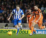 Brighton central midfielder Dale Stephens breaks forward during the Sky Bet Championship match between Brighton and Hove Albion and Ipswich Town at the American Express Community Stadium, Brighton and Hove, England on 29 December 2015. Photo by Bennett Dean.