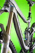The front triangle of the Giant Bicycles Reign X mountain bike.