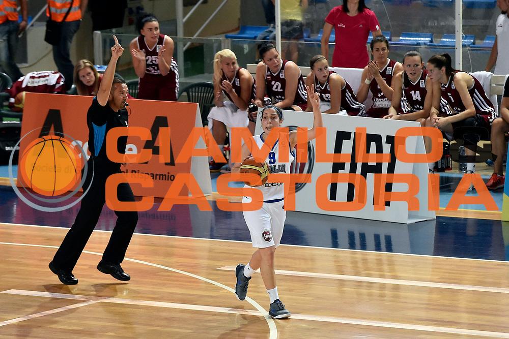 DESCRIZIONE : Ragusa Nazionale Italia Femminile Qualificazione Europeo Femminile Italia Lettonia Italy Latvia<br /> GIOCATORE : Francesca Dotto<br /> CATEGORIA : Palleggio Schema<br /> SQUADRA : Italia Nazionale Femminile Italy<br /> EVENTO : Qualificazione Europeo Femminile<br /> GARA : Italia Lettonia Italy Latvia<br /> DATA : 25/06/2014 <br /> SPORT : Pallacanestro<br /> AUTORE : Agenzia Ciamillo-Castoria/A.Falcone<br /> Galleria : FIP Nazionali 2014<br /> Fotonotizia : Ragusa Nazionale Italia Femminile Qualificazione Europeo Femminile Italia Lettonia Italy Latvia