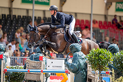TEBBEL Maurice (GER), DON DIARADO<br /> Münster - Turnier der Sieger 2019<br /> Preis des EINRICHTUNGSHAUS OSTERMANN, WITTEN<br /> CSI4* - Int. Jumping competition  (1.45 m) - <br /> 1. Qualifikation Mittlere Tour<br /> Medium Tour<br /> 02. August 2019<br /> © www.sportfotos-lafrentz.de/Stefan Lafrentz