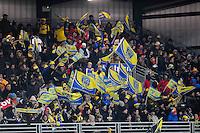 Supporters Clermont - 28.12.2014 - Lyon Olympique / Clermont - 14eme journee de Top 14 <br />Photo : Jean Paul Thomas / Icon Sport
