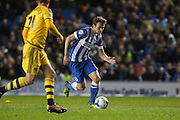 Brighton striker (on loan from Manchester United), James Wilson (21) during the Sky Bet Championship match between Brighton and Hove Albion and Fulham at the American Express Community Stadium, Brighton and Hove, England on 15 April 2016. Photo by Phil Duncan.