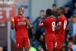 BLACKBURN, ENGLAND - Thursday, July 19, 2018: Liverpool's Daniel Sturridge celebrates scoring the second goal during a preseason friendly match between Blackburn Rovers FC and Liverpool FC at Ewood Park. (Pic by David Rawcliffe/Propaganda)