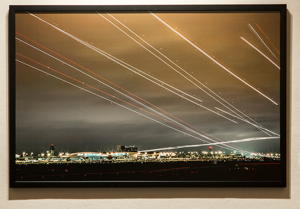 Grapevine Sky Lights, 2012.Framed Inkjet Print. .40x26 in. ...The Experiential Trace, MFA Thesis Exhibition, Presented By Tom Turner, Monday April 21-27 2013 at the Texas Tech School of Art on Tuesday, April 22, 2013.  © Tom Turner Photography 2013