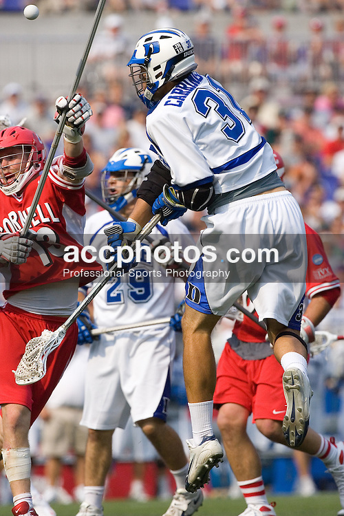 26 May 2007: Duke Blue Devils midfielder Bo Carrington (31) during a 12-11 win over the  Cornell Big Red at M&T Bank Stadium during the NCAA semifinals in Baltimore, MD.