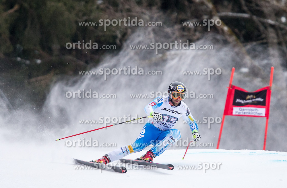 27.02.2015, Kandahar, Garmisch Partenkirchen, GER, FIS Weltcup Ski Alpin, Abfahrt, Herren, 2. Training, im Bild Travis Ganong (USA) // Travis Ganong of the USA in action during the 2nd trainings run for the men's Downhill of the FIS Ski Alpine World Cup at the Kandahar course, Garmisch Partenkirchen, Germany on 2015/27/02. EXPA Pictures © 2015, PhotoCredit: EXPA/ Johann Groder