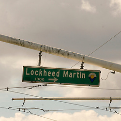 Silicon Valley Street Sign with the company Lockheed Martin name