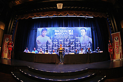 Sept 19, 2012; New York, NY, USA; Juan Manuel Marquez during the press conference announcing his fourth fight against Manny Pacquiao at The Edison Ballroom. Mandatory Credit: Ed Mulholland-US PRESSWIRE