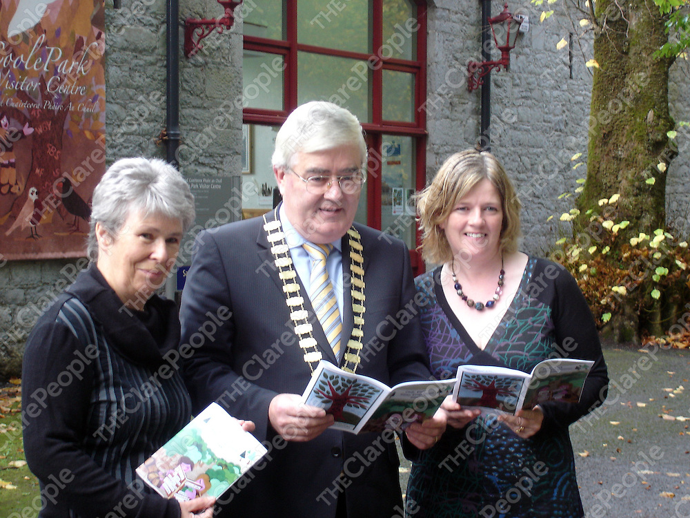 At the Coole Park winter programme launch were Hilda MacLochlainn, Head Guide, NPWS, Coole Park; Cllr. Tom McHugh, Mayor of County Galway and Marie Mannion, Heritage Officer Galway County Council.
