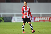 Lloyd James (4) of Exeter City during the EFL Sky Bet League 2 match between Exeter City and Accrington Stanley at St James' Park, Exeter, England on 25 November 2017. Photo by Graham Hunt.