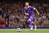 Sergio Ramos of Real Madrid during the UEFA Champions League Final match between Real Madrid and Juventus at the National Stadium of Wales, Cardiff, Wales on 3 June 2017. Photo by Giuseppe Maffia.<br /> <br /> Giuseppe Maffia/UK Sports Pics Ltd/Alterphotos