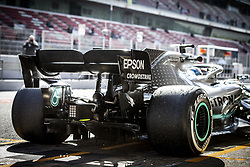 February 18, 2019 - Barcelona, Spain - Mercedes AMG F1 GP W10 Hybrid EQ Power+, mechanical detail wing, aileron, during Formula 1 winter tests from February 18 to 21, 2019 at Barcelona, Spain - Photo Motorsports: FIA Formula One World Championship 2019, Test in Barcelona, (Credit Image: © Hoch Zwei via ZUMA Wire)