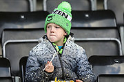 Young FGR supporter during the EFL Sky Bet League 2 match between Forest Green Rovers and Walsall at the New Lawn, Forest Green, United Kingdom on 8 February 2020.