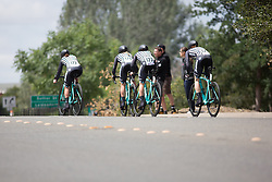 The Drops Cycling Team tackles the last few hundred metres of the second, 20.3 km team time trial stage of the Amgen Tour of California - a stage race in California, United States on May 20, 2016 in Folsom, CA.