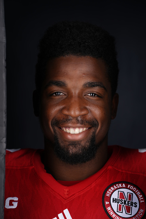 Pernell Jefferson #32 during a portrait session at Memorial Stadium in Lincoln, Neb. on June 6, 2017. Photo by Paul Bellinger, Hail Varsity