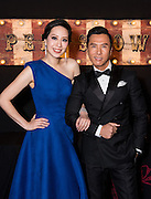 Star Wars star Donnie Yen at Film aid with his wife Cissy Wang.. Filmaid charity event at The Great European Carnival