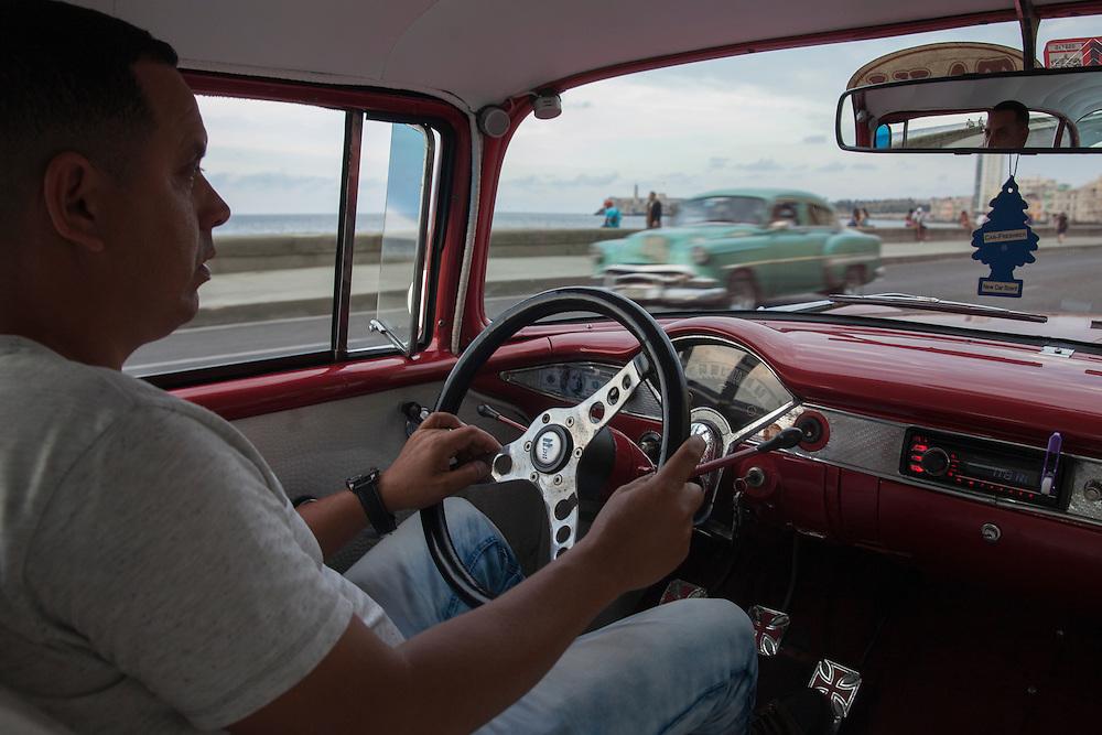 Taxi driver in Havana, Cuba