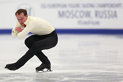 January 17, 2018 - Moscow, Russia - Figure skater Thomas Kennes of Netherlands performs his short program during a men's singles competition at the 2018 ISU European Figure Skating Championships, at Megasport Arena in Moscow, Russia  on January 17, 2018. (Credit Image: © Igor Russak/NurPhoto via ZUMA Press)
