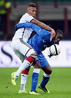 Fotball<br /> Tyskland v Italia<br /> 15.11.2013<br /> Foto: Witters/Digitalsport<br /> NORWAY ONLY<br /> <br /> v.r. Mario Balotelli (Italien), Jerome Boateng<br /> Fussball, Testspiel, Italien - Deutschland