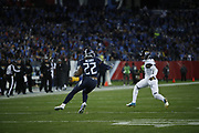 Tennessee Titans running back Derrick Henry (22) in action during the week 14 regular season NFL football game against the Jacksonville Jaguars on Thursday, Dec. 6, 2018 in Nashville, Tenn. The Titans won the game 30-9. (©Paul Anthony Spinelli)
