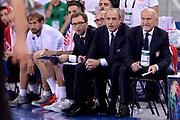 DESCRIZIONE: Torino Turin 2016 FIBA Olympic Qualifying Tournament Finale Final Italia Croazia Italy Croatia<br /> GIOCATORE : Mario Fioretti Luca Dalmonte Ettore Messina Giordano Consolini<br /> CATEGORIA : delusione allenatore<br /> SQUADRA : Italia Italy<br /> EVENTO : 2016 FIBA Olympic Qualifying Tournament <br /> GARA : 2016 FIBA Olympic Qualifying Tournament Finale Final Italia Croazia Italy Croatia<br /> DATA : 09/07/2016<br /> SPORT: Pallacanestro<br /> AUTORE : Agenzia Ciamillo-Castoria/Max.Ceretti <br /> Galleria : 2016 FIBA Olympic Qualifying Tournament <br /> Fotonotizia : Torino Turin 2016 FIBA Olympic Qualifying Tournament Finale Final Italia Croazia Italy Croatia<br /> Predefinita :