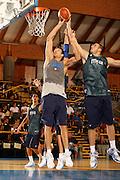 DESCRIZIONE : Bormio Ritiro Nazionale Italiana Maschile Preparazione Eurobasket 2007 Allenamento <br /> GIOCATORE : Denis Marconato Andrea Crosariol<br /> SQUADRA : Nazionale Italia Uomini EVENTO : Bormio Ritiro Nazionale Italiana Uomini Preparazione Eurobasket 2007 GARA : <br /> DATA : 27/07/2007 <br /> CATEGORIA : Allenamento <br /> SPORT : Pallacanestro <br /> AUTORE : Agenzia Ciamillo-Castoria/S.Silvestri <br /> Galleria : Fip Nazionali 2007 <br /> Fotonotizia : Bormio Ritiro Nazionale Italiana Maschile Preparazione Eurobasket 2007 Allenamento <br /> Predefinita :