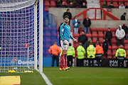 Swindon Town Defender, Raphael Rossi Branco (29) goes in goal during the EFL Sky Bet League 1 match between Swindon Town and Oxford United at the County Ground, Swindon, England on 5 February 2017. Photo by Adam Rivers.