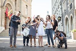 """1 July 2018, Geneva, Switzerland: Young LWF Council members. On Sunday, LWF Council members joined local congregants for Sunday service at the Evangelical Lutheran Church in Geneva. The 2018 LWF Council meeting takes place in Geneva from 27 June - 2 July. The theme of the Council  is """"Freely you have received, freely give"""" (Matthew 10:8, NIV). The LWF Council meets yearly and is the highest authority of the LWF between assemblies. It consists of the President, the Chairperson of the Finance Committee, and 48 members from LWF member churches in seven regions."""