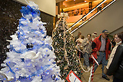 "Iowa USA, IA. Sioux City, Decorated Christmas trees at the ""Festival of Trees"" ? A charity event in which people sell their self-decorated Christmas trees and the profits go to charity. November 2006"