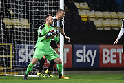Notts County goalkeeper Ross Fitzsimons (34) during the The FA Cup match between Notts County and Bristol Rovers at Meadow Lane, Nottingham, England on 3 November 2017. Photo by Jon Hobley.