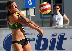 Snezana Rajak (Armal Team) at qualifications for 14th National Championship of Slovenia in Beach Volleyball and also 4th tournament of series TUSMOBIL LG presented by Nestea, on July 25, 2008, in Kranj, Slovenija. (Photo by Vid Ponikvar / Sportal Images)/ Sportida)