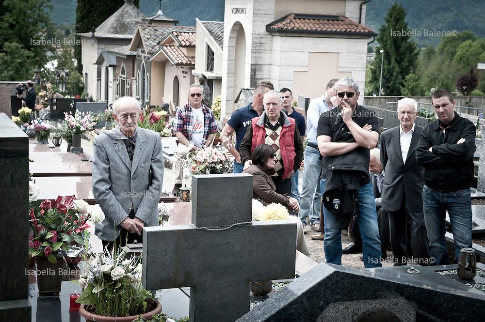 Rovetta, Bergamo, Italy, 27 maggio 2012. Commemorazione dei 43 militi della Tagliamento della RSI, uccisi il 28 aprile del 1945. Dilseni Batista fratello di Dilseni Franco ucciso vent'enne a Rovetta
