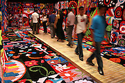 Belo Horizonte_MG, Brasil. ..Exposicao de tapetes do projeto Fred no Palacio das Artes...The carpet exhibit of Fred project in the Palacio das Artes...Foto: LEO DRUMOND / NITRO
