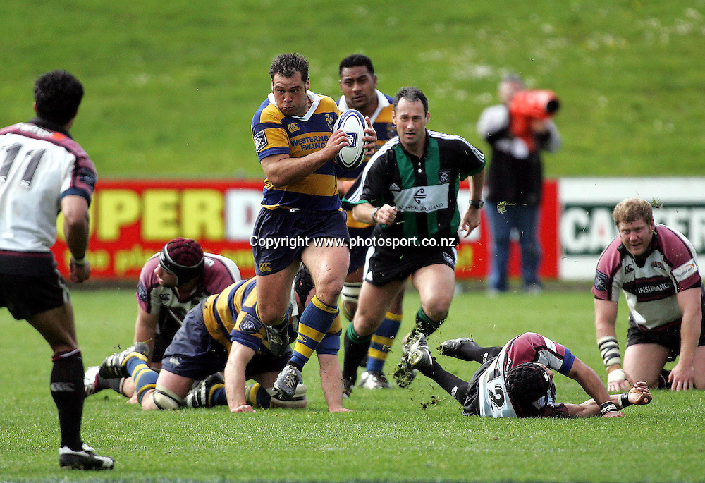 Anthony Tahana during the North Harbour v Bay of Plenty NPC match at North Harbour Stadium Sunday October 10 2004.<br />