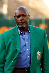 OAKLAND, CA - SEPTEMBER 21:  Former pitcher Dave Stewart of the Oakland Athletics stands on the field during the team's Hall of Fame ceremony before the game against the Texas Rangers at the RingCentral Coliseum on September 21, 2019 in Oakland, California. The Oakland Athletics defeated the Texas Rangers 12-3. (Photo by Jason O. Watson/Getty Images) *** Local Caption *** Dave Stewart