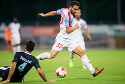 Matija Skarabot of Gorica vs Valentinos Vlahos of Panionios GSS during 2nd Leg football match between ND Gorica (SLO) and Panionios GSS (GRE) in 2nd Qualifying Round of UEFA Europa League 2017/18, on July 20, 2017 in Nova Gorica, Slovenia. Photo by Vid Ponikvar / Sportida