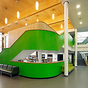 Modern school reception interior on the Wirral