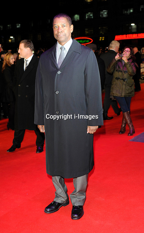 Denzel Washington during the Flight UK film premiere, Empire Leicester Square, London, United Kingdom, January 17, 2013. Photo by i-Images.