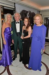Left to right, MANDY SHEPHERD, DAVID SHEPHERD, PEANUT LAMB and AVRIL SHEPHERD at the David Shepherd Wildlife Foundation 30th anniversary Wildlife Ball at The Dorchester, Park Lane, London on 10th October 2014.