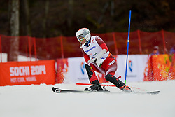 Jochi ROETHLISBERGER competing in the Alpine Skiing Super Combined Slalom at the 2014 Sochi Winter Paralympic Games, Russia