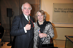 SIR TIM & LADY CLIFFORD at a private view of the Kuniyoshi exhibition at the Royal Academy, Piccadilly, London on 17th March 2009.