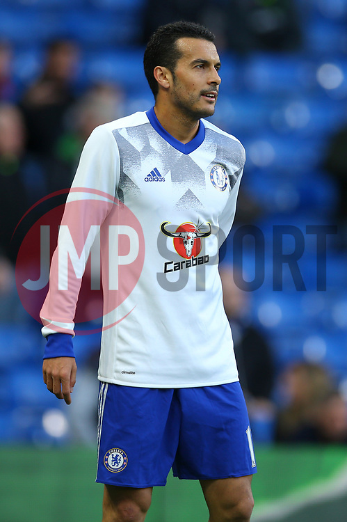 Pedro of Chelsea during warm ups - Mandatory by-line: Jason Brown/JMP - 08/05/17 - FOOTBALL - Stamford Bridge - London, England - Chelsea v Middlesbrough - Premier League