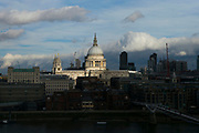 UNITED KINGDOM, London: 06 March 2018 Sunlight catches the dome of St Paul's Cathedral in central London this morning. The picture was taken from The Tate Modern cafe. Rick Findler / Story Picture Agency